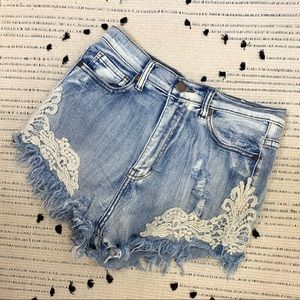 Fashionomics Embroidered Cutoff Short
